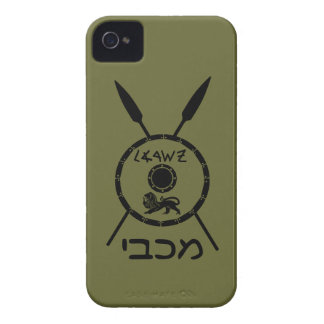 Subdued Maccabee Shield And Spears Case-Mate iPhone 4 Case