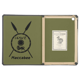 Subdued Maccabee Shield And Spears iPad Air Case