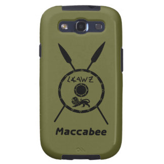 Subdued Maccabee Shield And Spears Galaxy S3 Covers