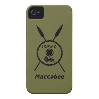 Subdued Maccabee Shield And Spears iPhone 4 Cases