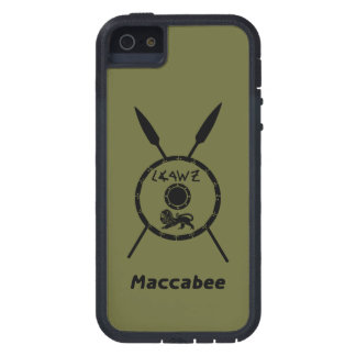Subdued Maccabee Shield And Spears iPhone 5/5S Case