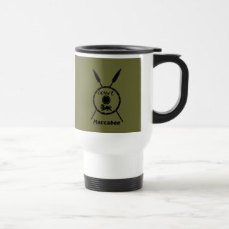 Subdued Maccabee Shield And Spears Coffee Mugs