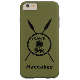 Subdued Maccabee Shield And Spears Tough iPhone 6 Plus Case