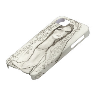 Subdued Mary with Roses iPhone SE/5/5s Case