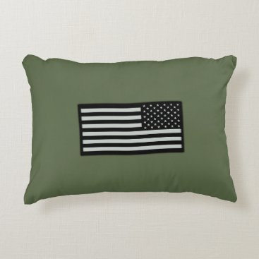 Subdued Military Flag Accent Pillow