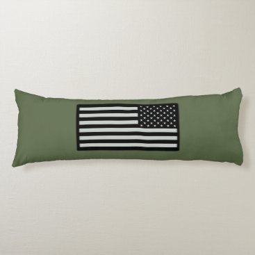 Subdued Military Flag Body Pillow