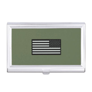 Subdued Military Flag Business Card Case