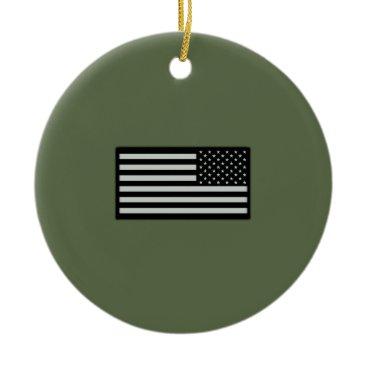 Subdued Military Flag Ceramic Ornament