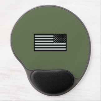 Subdued Military Flag Gel Mouse Pad