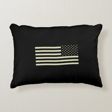 Subdued Military Flag - Sand Accent Pillow