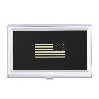 Subdued Military Flag - Sand Business Card Case