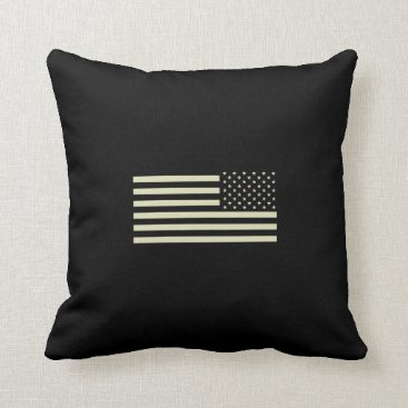 Subdued Military Flag - Sand Throw Pillow