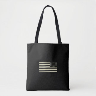 Subdued Military Flag - Sand Tote Bag