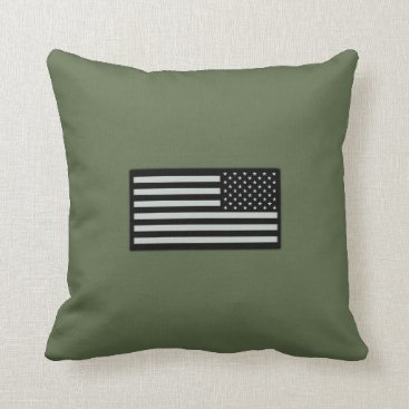 Subdued Military Flag Throw Pillow