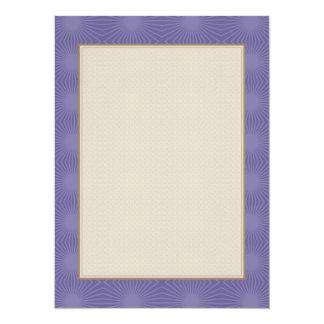 Subdued Purple Starburst Pattern Announcement
