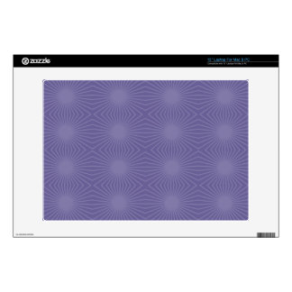 Subdued Purple Starburst Pattern Decal For Laptop