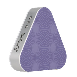 Subdued Purple Starburst Pattern Speaker