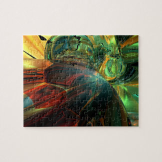 Subdued Strength Abstract Jigsaw Puzzle