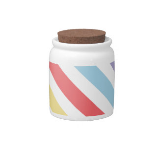 Subdued Stripes Candy Jars