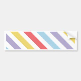 Subdued Stripes Car Bumper Sticker