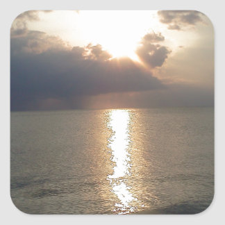 Subdued Sunset 2 Square Sticker