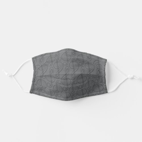 Subdued Treble Clef Adult Cloth Face Mask