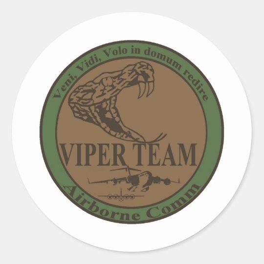 Subdued Viper Team Patch Classic Round Sticker