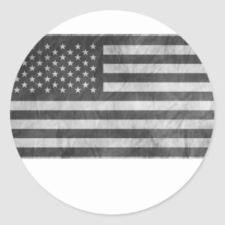 Subdueded tactical US FLAG Classic Round Sticker