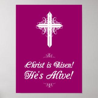 """¡Suben a Cristo! ¡Él está vivo! Poster 12"""" de Pasc"""