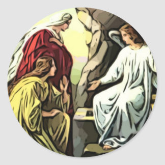 ¡Suben a Cristo, él se sube seguramente! Etiqueta Redonda