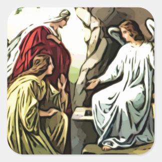 ¡Suben a Cristo, él se sube seguramente! Pegatina Cuadrada