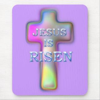 SUBEN a Cruz-Jesús en colores pastel Tapetes De Raton