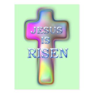 SUBEN a Cruz-Jesús en colores pastel Tarjetas Postales