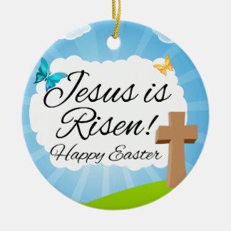 Suben a Jesús ornamento cristiano de Pascua Ornamento De Navidad