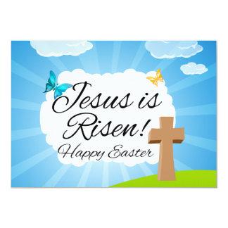 """Suben a Jesús, Pascua cristiana Invitación 5"""" X 7"""""""