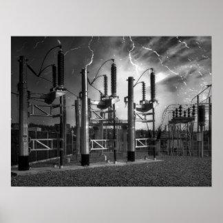 Subestación eléctrica 2 del St del puente - Spokan Póster