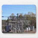 Subestación eléctrica al aire libre alfombrilla de ratones