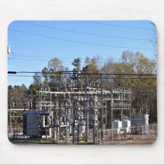 Subestación eléctrica al aire libre tapetes de ratón