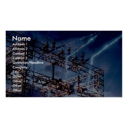 Subestación eléctrica eléctrica tarjetas de visita