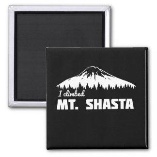 Subí Mt. Shasta Imán Cuadrado