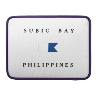 Subic Bay Philippines Alpha Dive Flag MacBook Pro Sleeve