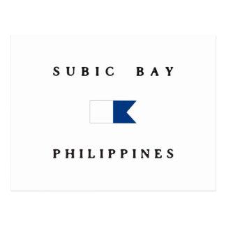 Subic Bay Philippines Alpha Dive Flag Postcard
