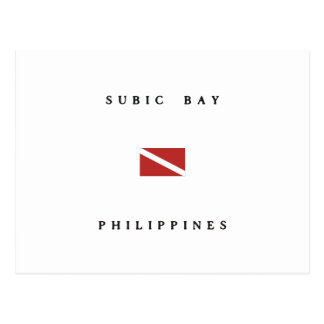 Subic Bay Philippines Scuba Dive Flag Postcard