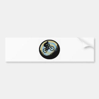 Subida alpina de la bici pegatina para auto