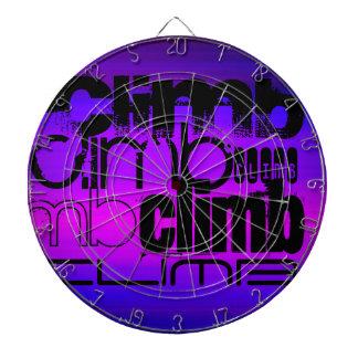Subida; Azul violeta y magenta vibrantes