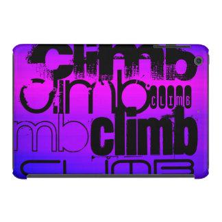 Subida; Azul violeta y magenta vibrantes Fundas De iPad Mini