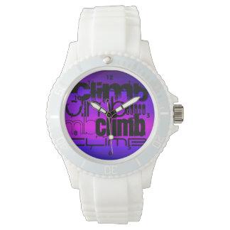 Subida; Azul violeta y magenta vibrantes Reloj De Mano