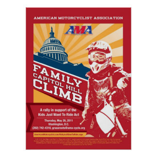 Subida de Capitol Hill de la familia de AMA Póster
