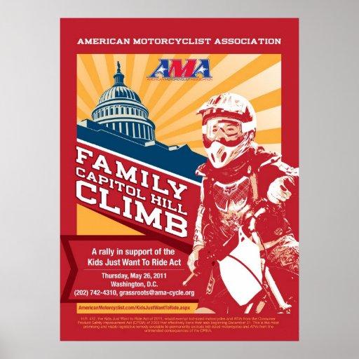 Subida de Capitol Hill de la familia de AMA Poster