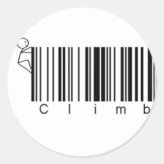 Subida de la clave de barras etiqueta redonda